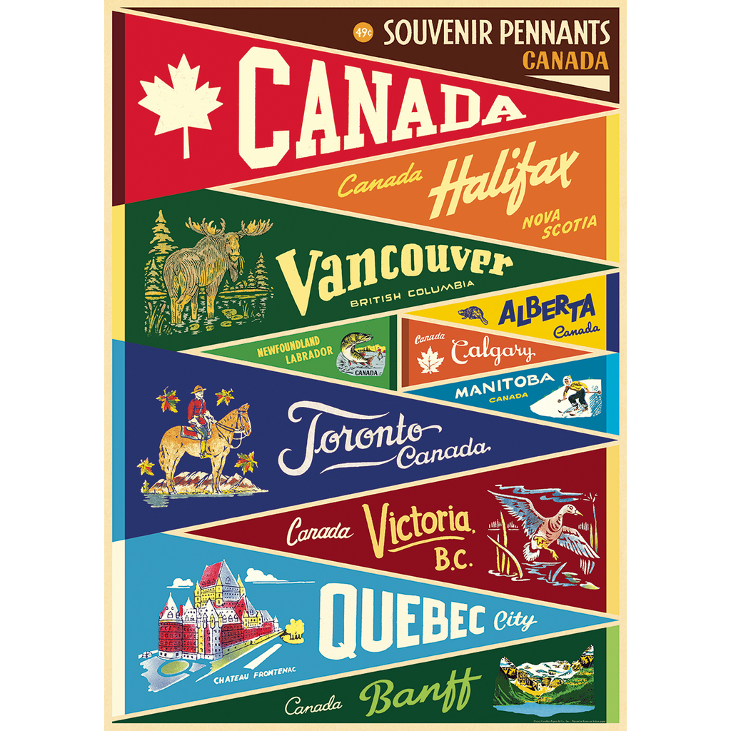 Cavallini Canada Pennants Wrap Sheet