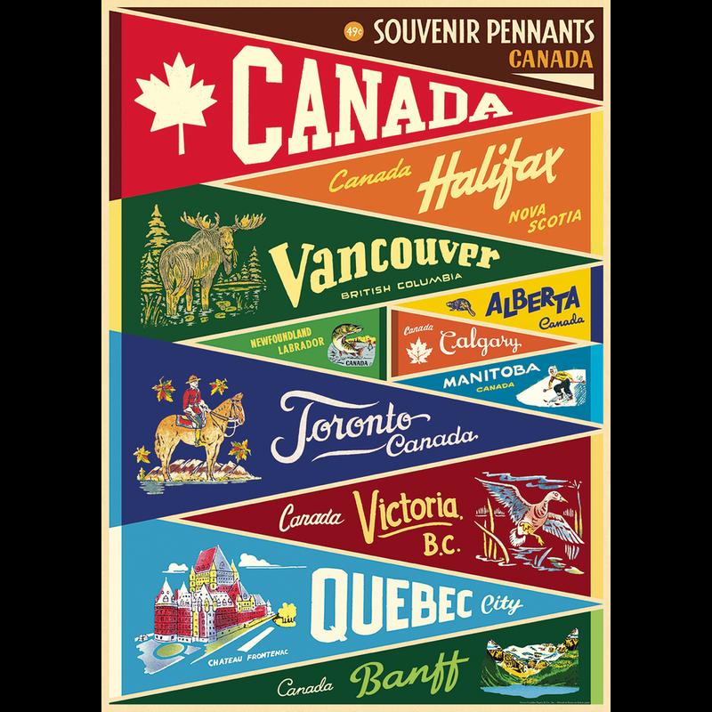 Cavallini Canada Pennants Wrap Sheet
