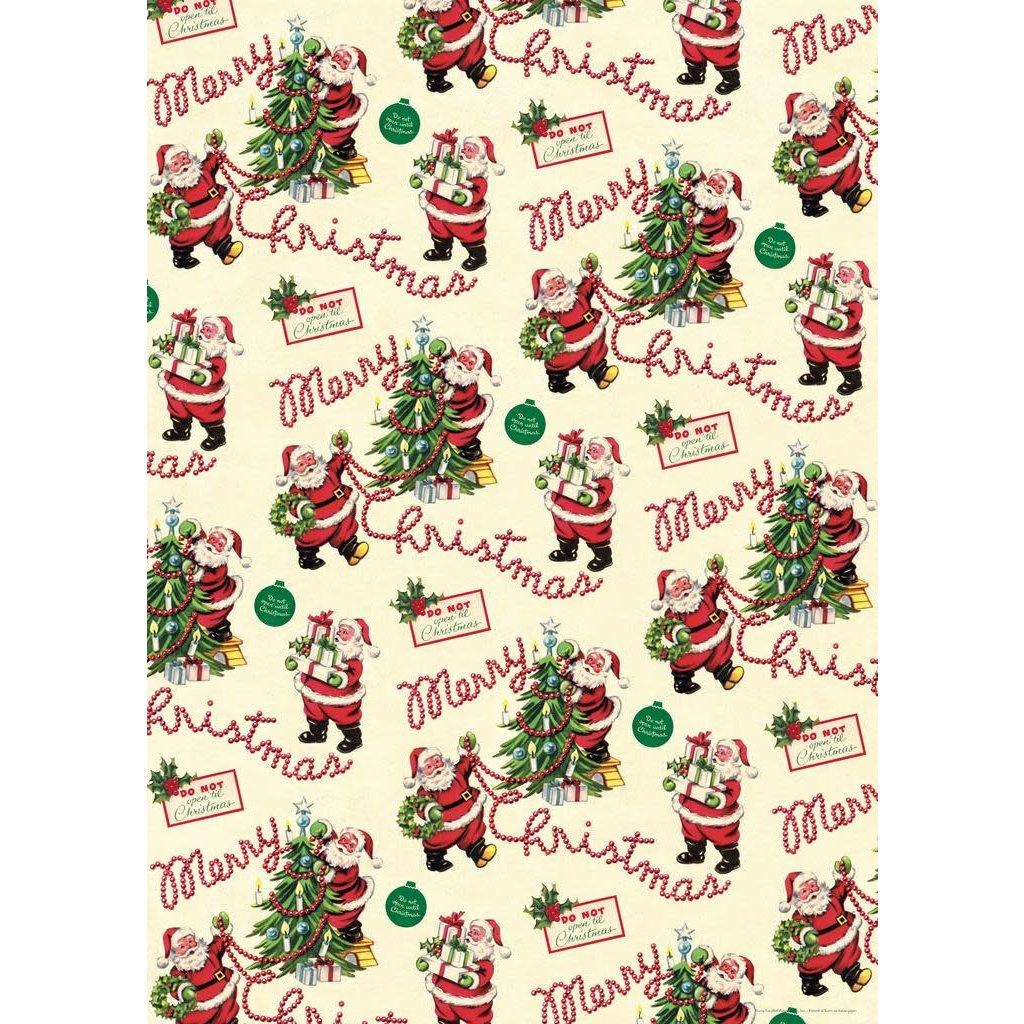 Cavallini Vintage Santa Wrap Sheet