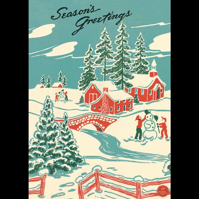 Cavallini Winter Wonderland Wrap Sheet