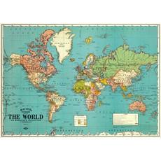 Cavallini World Map 4 Wrap Sheet