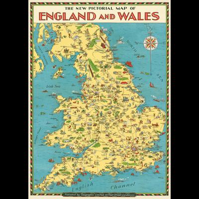 Cavallini England Map Wrap Sheet