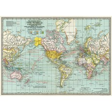 Cavallini World Map 3 Wrap Sheet