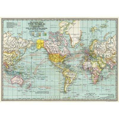 Cavallini World Map 3 Wrap Sheet