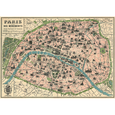 Cavallini Paris Map Wrap Sheet