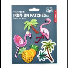Kikkerland Iron On Patch Tropical Set Of 5