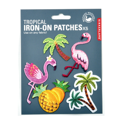 Kikkerland Iron On Patch Tropical Set Of 5
