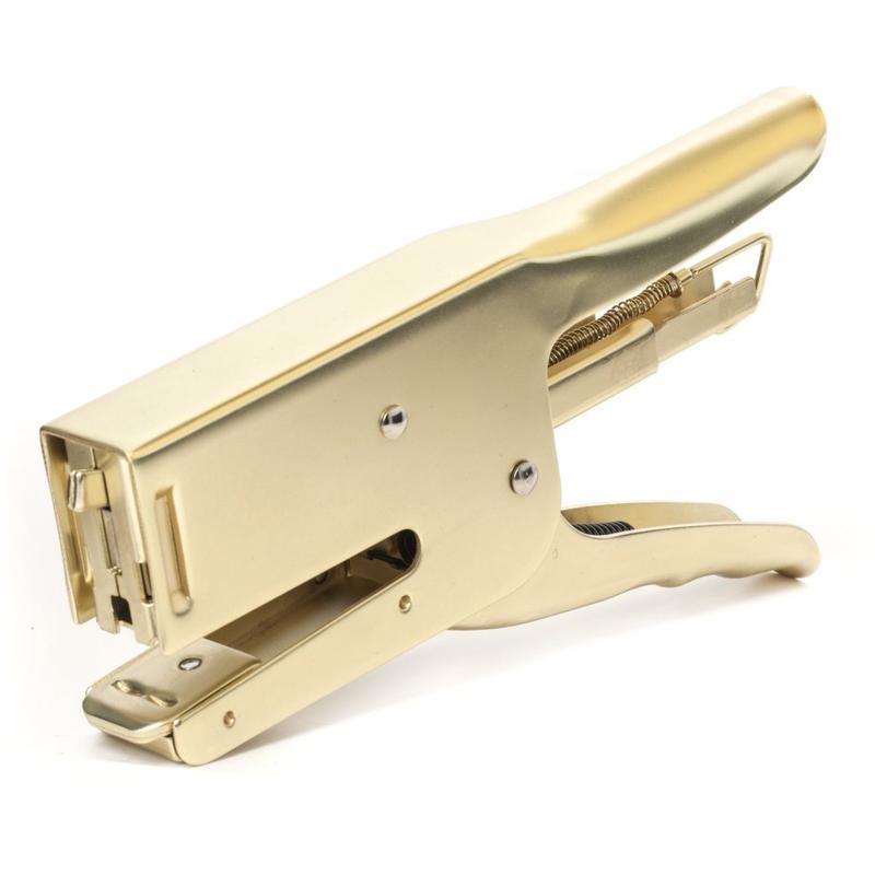 Kikkerland Brass Dog Stapler - Small