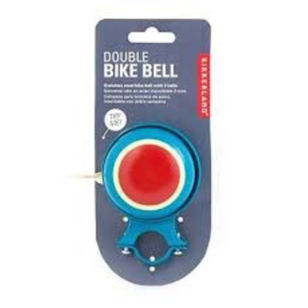 Kikkerland Double Bike Bell Teal