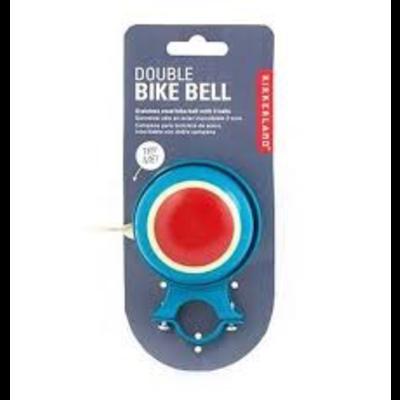 Kikkerland Double Bike Bell Teal