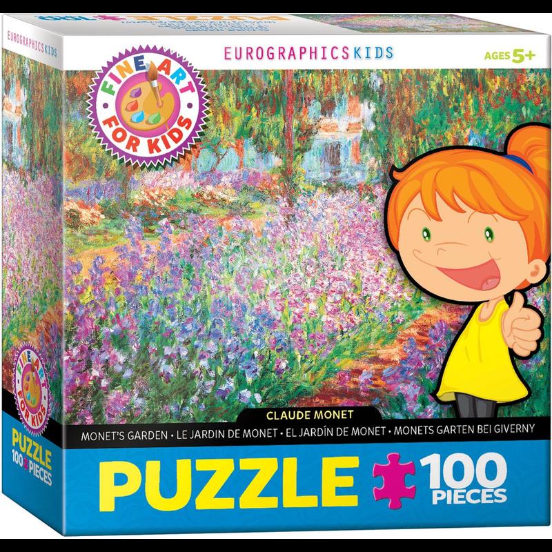 Eurographics Monet's Garden Fine Art For Kids Jigsaw Puzzle