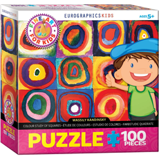 Eurographics Colour Study of Squares Fine Art For Kids Jigsaw Puzzle