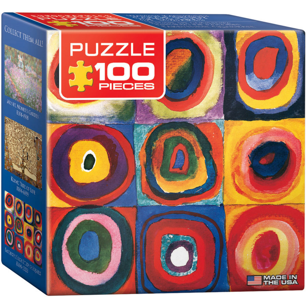 Eurographics Wassily Kandinsky - Colour Study of Squares Jigsaw Puzzle