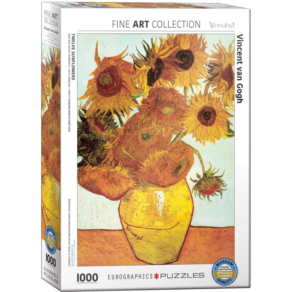 Eurographics Twelve Sunflowers Jigsaw Puzzle