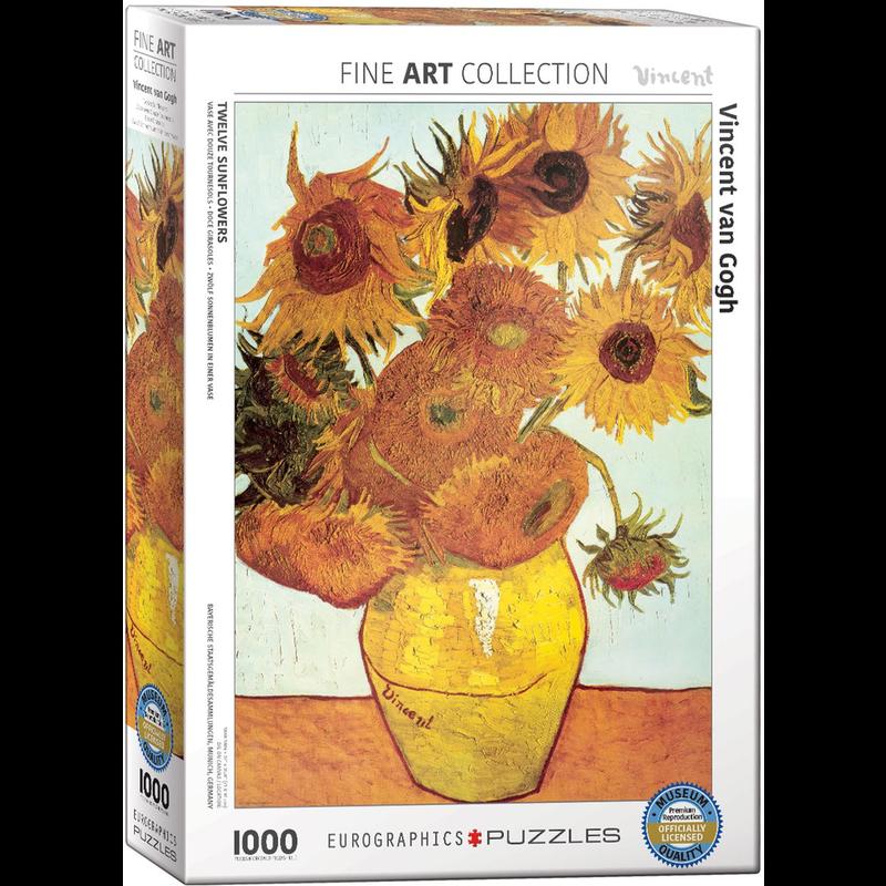 Eurographics Twelve Sunflowers Jigsaw Puzzle