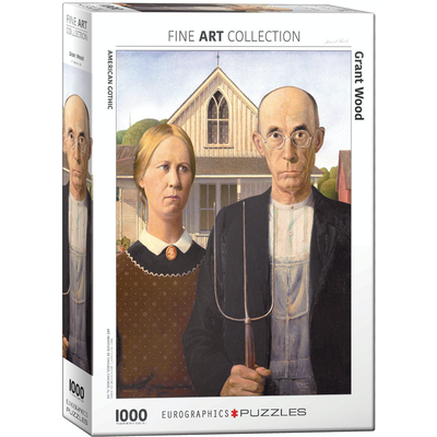 Eurographics Grant Wood - American Gothic Jigsaw Puzzle