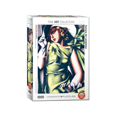 Eurographics Young Girl in Green Jigsaw Puzzle