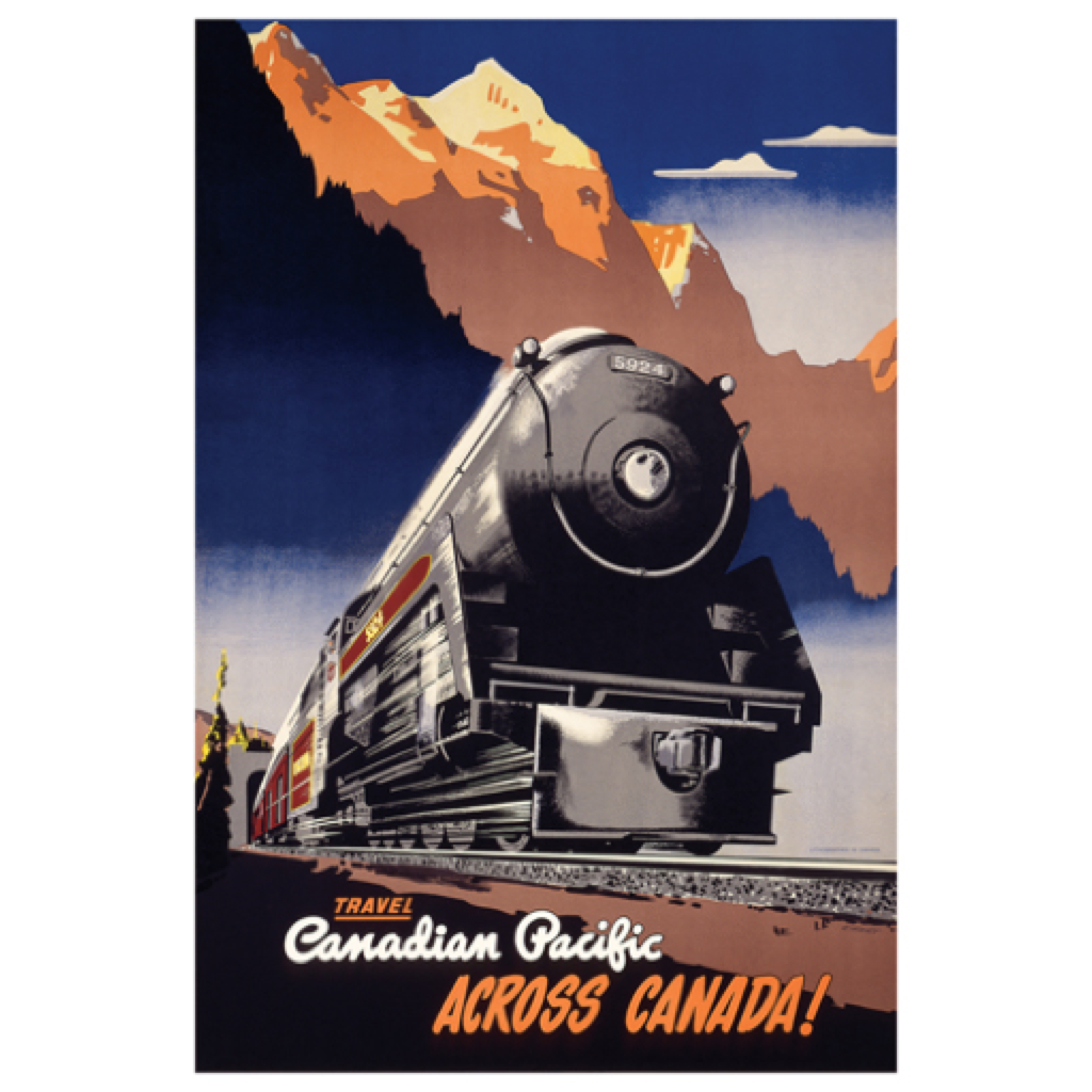 Eurographics Canadian Pacific across Canada, 1930