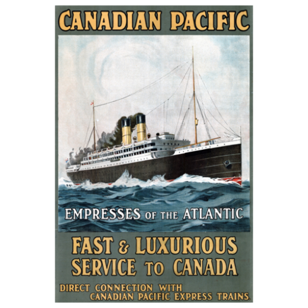Eurographics Empresses of the Atlantic - Fast and Luxurious Service to Canada