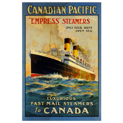 Eurographics Empress Steamers Luxurious Fast Mail Steamers to Canada
