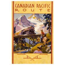 Eurographics Canadian Pacific Route Through the Rockies