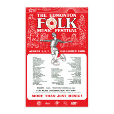 Vivid Print Edmonton Folk Music Festival 1983 Poster