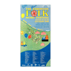 Vivid Print Edmonton Folk Music Festival 1984 Poster