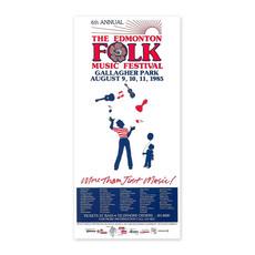 Vivid Print Edmonton Folk Music Festival 1985 Poster