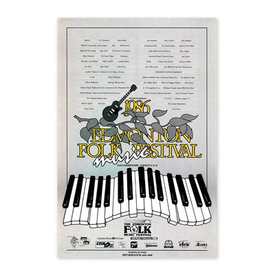 Vivid Print Edmonton Folk Music Festival 1986 Poster