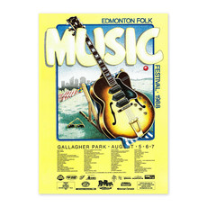 Vivid Print Edmonton Folk Music Festival 1988 Poster