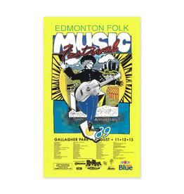 Vivid Print Edmonton Folk Music Festival 1989 Poster
