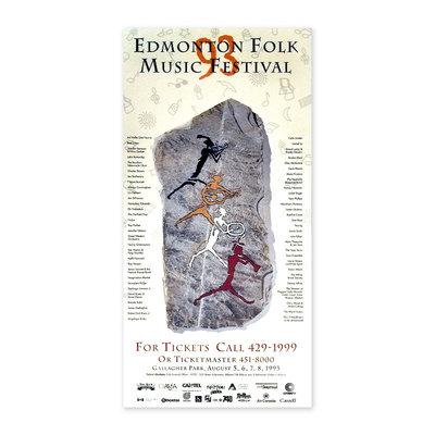 Vivid Print Edmonton Folk Music Festival 1993 Poster
