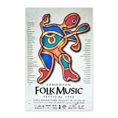 Vivid Print Edmonton Folk Music Festival 1995 Poster