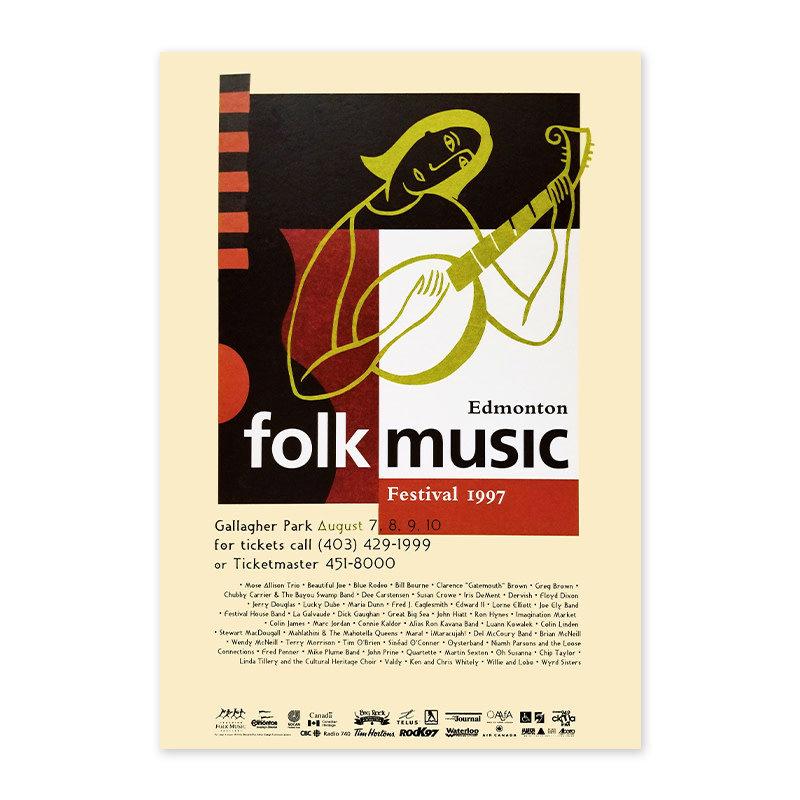 Vivid Print Edmonton Folk Music Festival 1997 Poster