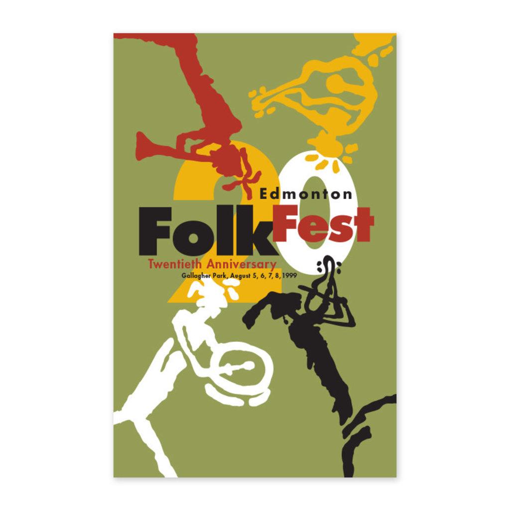 Vivid Print Edmonton Folk Music Festival 1999 Poster