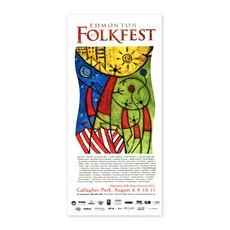 Vivid Print Edmonton Folk Music Festival 2002 Poster