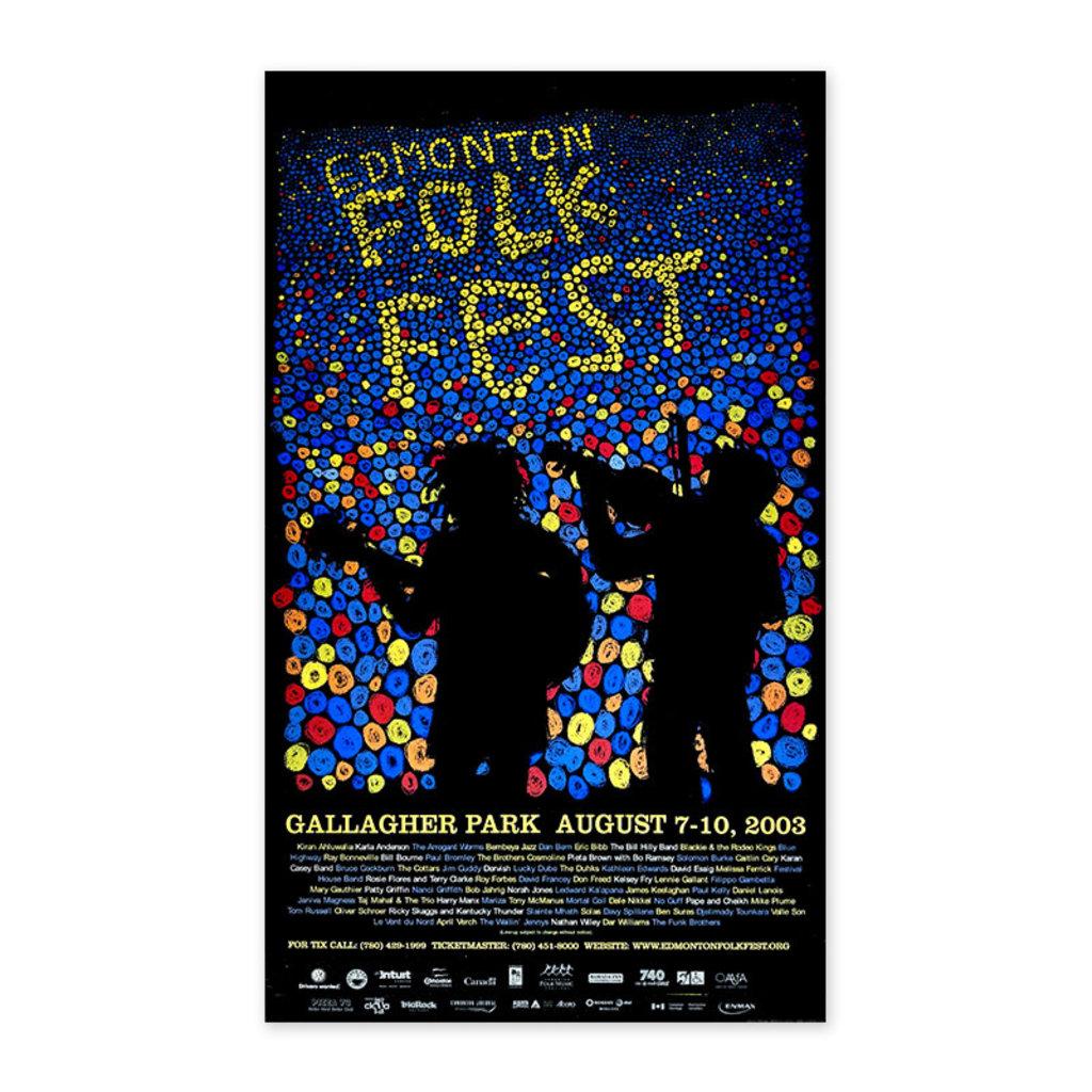 Vivid Print Edmonton Folk Music Festival 2003 Poster