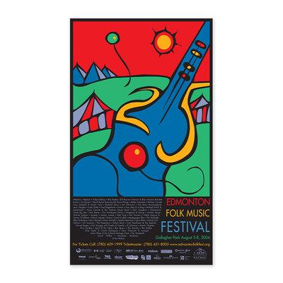 Vivid Print Edmonton Folk Music Festival 2004 Poster