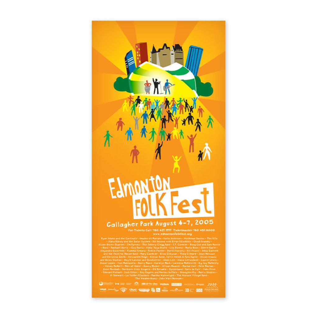 Vivid Print Edmonton Folk Music Festival 2005 Poster