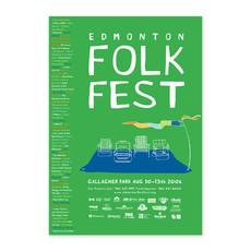 Vivid Print Edmonton Folk Music Festival 2006 Poster