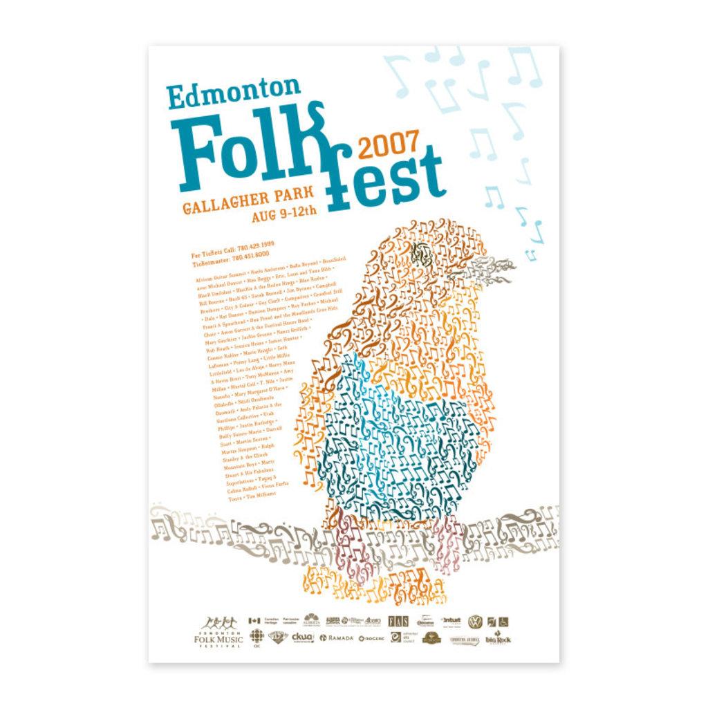 Vivid Print Edmonton Folk Music Festival 2007 Poster