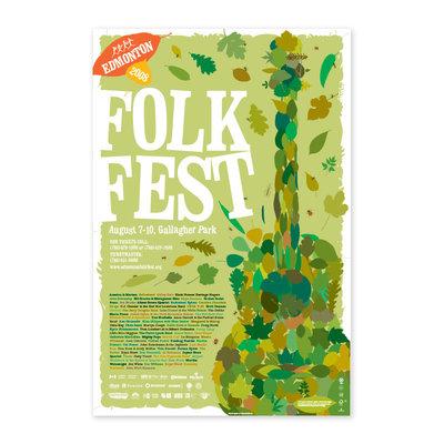 Vivid Print Edmonton Folk Music Festival 2008 Poster