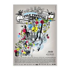 Vivid Print Edmonton Folk Music Festival 2009 Poster