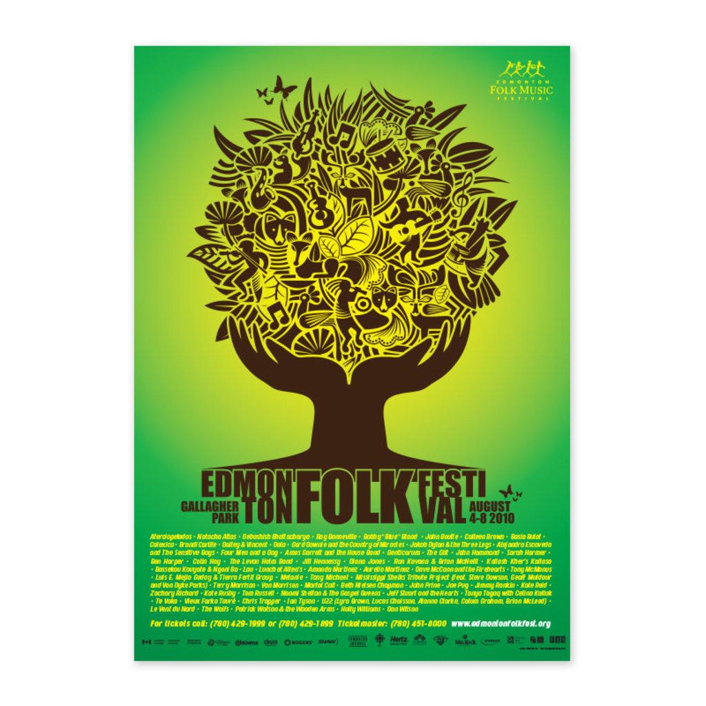 Vivid Print Edmonton Folk Music Festival 2010 Poster