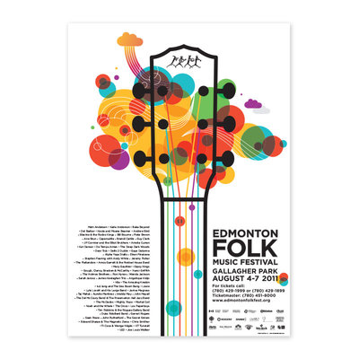 Vivid Print Edmonton Folk Music Festival 2011 Poster