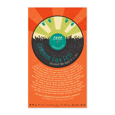 Vivid Print Edmonton Folk Music Festival 2013 Poster