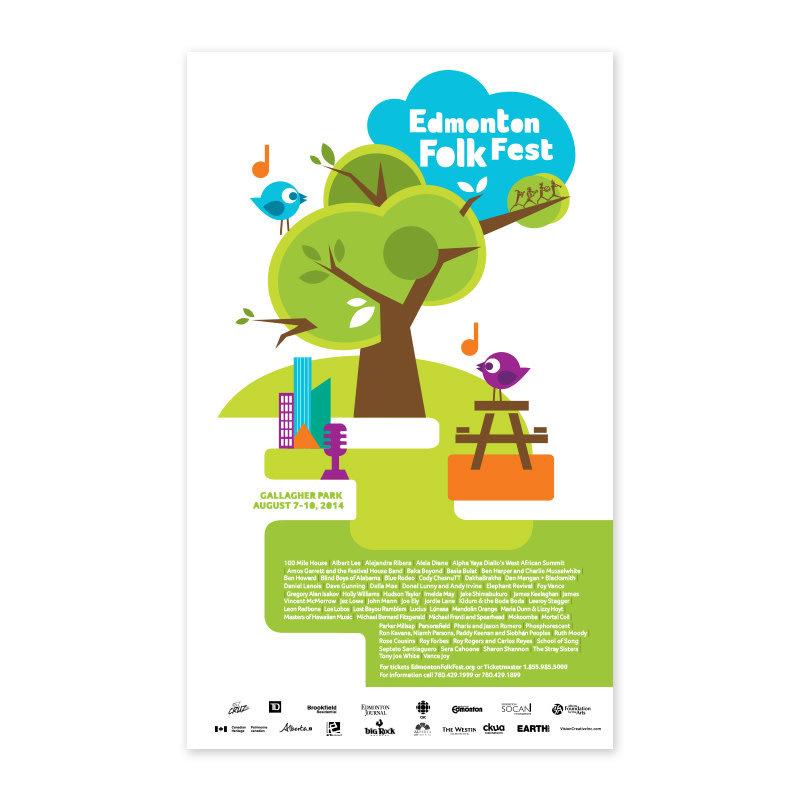 Vivid Print Edmonton Folk Music Festival 2014 Poster