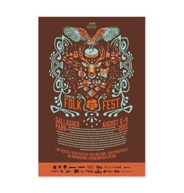 Vivid Print Edmonton Folk Music Festival 2015 Poster