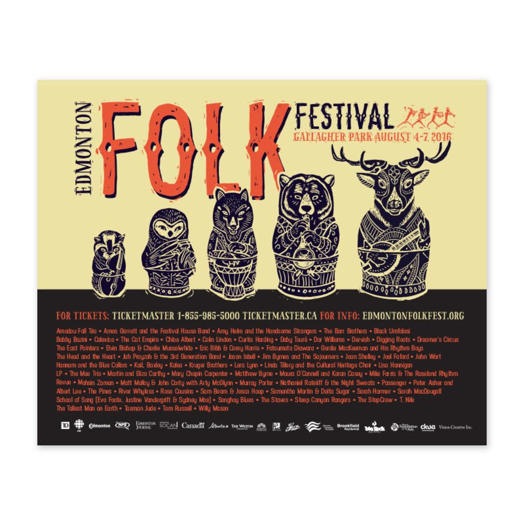 Vivid Print Edmonton Folk Music Festival 2016 Poster