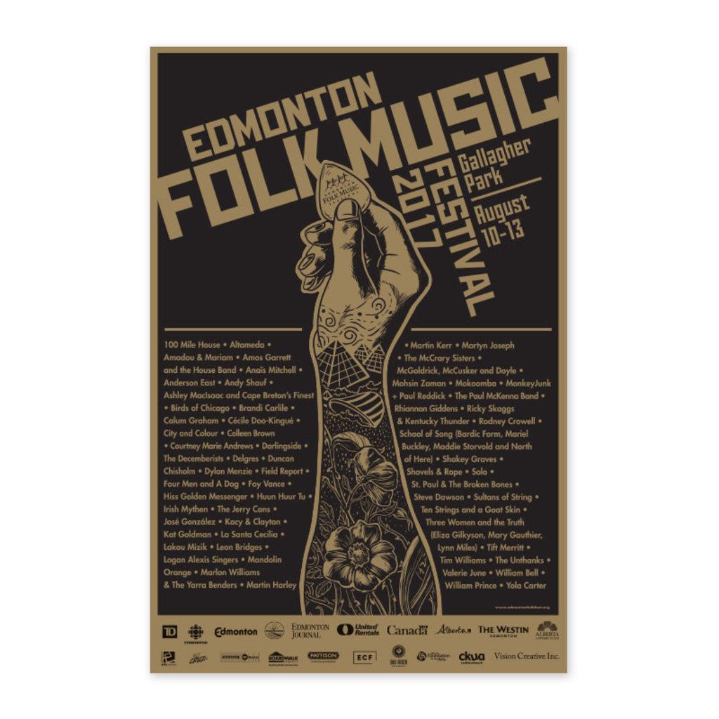 Vivid Print Edmonton Folk Music Festival 2017 Poster
